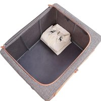 Storage Bags Thicken With Steel Support Frame Quilt Bag Wardrobe Organizer For Clothes Cupboards Organizers Cabinets