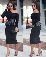 One Shoulder Designer Women Dresses Plus Size Sexy Slim Leather Skirt Stitching Long Sleeved Bodycon Womens Fashion Party
