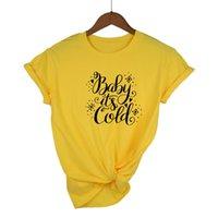 T-shirt das mulheres Bebê engraçado é gráfico frio presente do dia de Natal tshirt Mulheres Top Algodão Unisex Plus Size Casual Forma Drop Shipfunny Ba