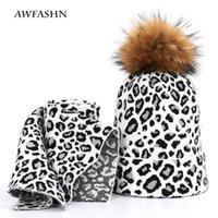 Hats, Scarves & Gloves Sets Women's Hats Raccoon Ladies Fur Hat Scarf Winter Thick Velvet Ball Head Cap Bib Suit Headscarf Alpine Skiing War