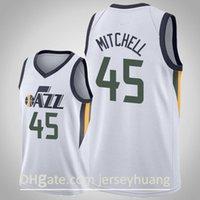 Männer 2021 New Jersey45 Donovan Mitchell27 Rudy Gobert12 John Stockton32 Karl Malonejersey Basketball Jersey