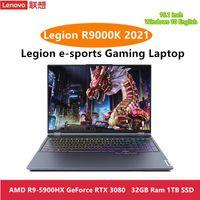 Lenovo Legião R9000K 2021 E-Sports 16inch Gaming Laptop Amd R9-5900H / R7 5800H GeForce RTX 3060/3070/3080 2,5K Laptops de corpo de metal backlit
