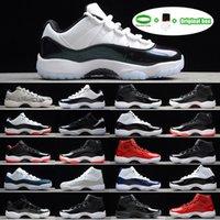 [Bracelet + chaussettes + boîte d'origine]Air Jordan 11 Jordans AJ11 shoes Gym Rouge GS Chaussure Midnight Navy 'Gagnez comme 82' 11 Chaussures basketball Hommes Baskets originaux