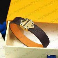 Pulsera de moda pulsera pulseras 7 estilos encanto hombre mujer joyería origen cuerda de cuero alta calidad