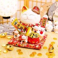 11 pollici Grande Zhaocai Cat Wave Wave Mano Ornamenti in ceramica Cassiere automatico Home Shop Opening Regali