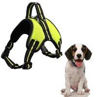 Köpek yaka tasmalar köpek yavrusu için pet ürünleri küçük koşum chihuahua göğüs sapanlar yelek kurşun mesh parlayan büyük koşumlar aksesuarları