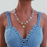 Pendant Necklaces Creative Blue Rope Chain Natural Sea Choker Necklace Handbags Collar Famous Beach Jewelry