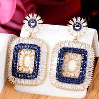 Dangle & Chandelier GODKI Trendy Square Geometric Earring For Women Wedding Party Dubai Bridal Jewelry Boucle D'oreille Femme Gift
