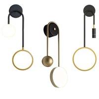 Nordic Tasarım Duvar Işık Ayarlanabilir Spot Modern Başucu Işıkları Altın Lamba Demir Sanat Kapalı Sconce