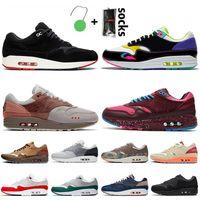 nik air max 1 airmax 1 2021 الأزياء الساخنة ماكس 1 المرأة الاحذية أحذية الهواءماكسAirmax أمستردام London Denham 1 Evergreen Aura Jogging Trainers Sneakers
