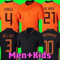 NETHERLANDS 2020 2021 maillot de football PAYS-BAS DE JONG WIJNALDUM HOLLAND kits de football maillot de football VIRGIL 20 21 maillot STROOTMAN MEMPHIS hommes + enfants