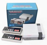 도착 미니 TV는 620 500 게임 콘솔 비디오 핸드 헬드에 대한 NES 게임 콘솔로 소매 상자가있는 콘솔 DHL