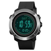 Kompass Schrittzähler Watch Männer Digital LED Thermomet Kilometerwetter Altimeter Kalorien Sport Kletterer Relogio Masculino Armbanduhren