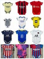 Kante Giroud Pulisic Baby Jerseys Ibrahimovic Mandzukic 2021 2022 Real Madrid 2 estrellas Mbappe Kean Verratti Baby Football Jersey 6-18 Odegaard Saka Meses Camisa de fútbol