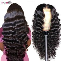 Loose Deep Wave Wig 13x6x1 Pre Plucked Lace Front Human Hair Wigs For Women Transparent Brazilian 180%