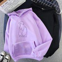Women's Hoodies & Sweatshirts Woman Oversized Pullover Moletom Casual Pink Black Warm Plus Velvet Hip Hop Street Wear Skateboard