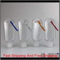 Packing Office School Business Industrial 50Ml Empty Hand Sanitizer Bottles Alcohol Refillable With Key Ring Hook Outdoor Portable Cle
