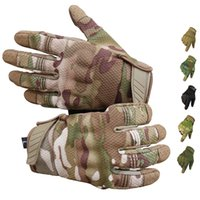 Men Riding Cycling Bike Full Finger Motos Racing Gloves Antiskid Screen Touch Outdoor Sports Tactical Glove Protect Gear