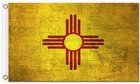 Grunge-Stil New-Mexico-Staat Retro-Stil-Flaggen Amerika-Landes-Nation-offizielle Flaggen mit Tüllen 100d Polyester benutzerdefinierte Flaggen AHD6546