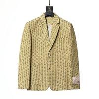 2021 Designant Mens Garnitur Blazer Kurtki Płaszcze Dla Mężczyzna Moda List Haft Długi Rękaw Casual Party Wedding Garnitury Blazers Bluzie Mężczyźni Odzież Jesienna Zima