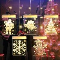 3D LED Christmas Lights Fairy Light Garland Curtain Festoon Battery-operated Hanging Lamp Window Home Decor