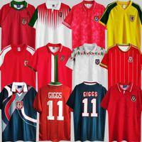 1974 90 92 93 94 95 96 97 98 99 País de Gales Retro Jersey Giggs Bale Hughes Saunders Rush Velocidade Vintage Camisa de Futebol Clássico 2014 15 1990 1992 1994 1995 1982 83 2000 01