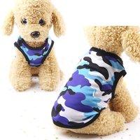 Dog Apparel Summer Vest Tshirt Cat Puppy Chihuahua Clothes Poodle Bichon Pug Pet T-shirt Camouflage Costume