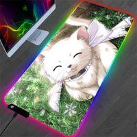 Mauspads Handgelenkstützen Kawaii Anime Nette Kätzchen Pad XXL RGB Hochwertige Gamer Mini PC Ein Stück 700x300 Desktop Schutztuch Matte Spiel