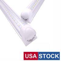 T8 v en forme de tobed LED lumières intégrées de 3ft de 4ft de 4ft de 6 pieds 8 pieds d'éclairage de la porte de la boutique 4 roulettes Tubes Fluorescent Fixture stock à Los Angeles Usalight