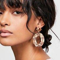Orecchini dell'ovale dell'ovale alla moda per le donne Geometric acrilico Acidy Acid Design Design a goccia orecchino femmina 2019 gioielli