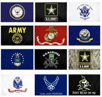 US-Armee-Flagge USMC 13 Armee Direkte Fabrik-Großhandel 3x5FTs 90x150cm Luftwaffe Schädel Gadsden Camo Army Banner US Marines