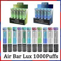 Air Bar Lux Light Edition Diamand Descartável E Cigarros Vape Pen 1000 Puffs 650mAh Bateria 3ml Pods Vapor Stick Dispositivos Vaporizadores 20 Cores
