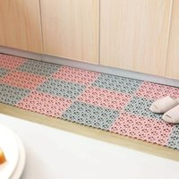Plastic Kitchen Mat Anti-slip Living Room Balcony Bathroom Solid Color Rugs Doormat Hallway Bath Splicing Mat Carpet EWE6713