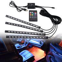 Car Led Strips Lights 36 48 72 Ambient RGB LED Lights USB 12V Auto Interior Decorative Lamp APP Wireless Remote Mode