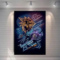 Paintings Final Fantasy 7 Game Poster Tifa Cloud And Aeris Canvas Painting Home Decoration Cartoon Movie Wall Art Pictures
