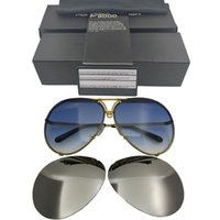 Porsche Sunglasse 타원형 P 반 미러 렌즈 태양 반사 브랜드 디자인 8478 안경 여성 남성 교환 가능한 교체 가능한 UGPFT