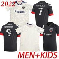Personnalisé 2022/2021 Jersey de football 17 Santos 31 Gessel Home Away 9 Kamara 10 Flores Version fans Version homme + Chemise de football pour enfants