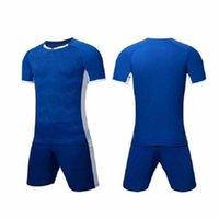 20 21 شخصي فريق الأخضر فارغة رجل كرة القدم جيرسي موحدة قمصان مخصصة مع السراويل-طباعة اسم التصميم رقم للرجال الاطفال الشباب 62 002