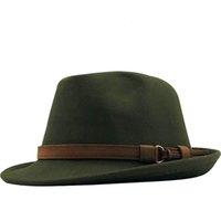 Donne donne uomini fedora cappello per inverno autunno elegante signora gangster trilby feltro homburg church jazz cappello 55-58 cm regolabile