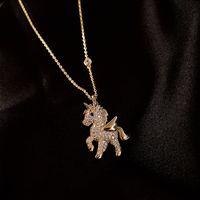 Collier mignon enfants anime cristal strass dragorne pendentif chrand charme chanceux fille féminin féminin fête animal bijoux animal
