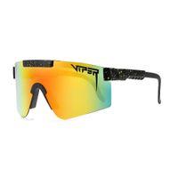 2021 Designer Pit Viper Sunglasses Double Wide Polarized Lente Espelhada TR90 Frame UV400 Proteção Wih Case Marca Óculos