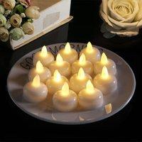 Mumlar 3/6 adet LED Alevsiz Su Geçirmez Mum Işıkları Flickering Çay Akülü Ev Düğün Doğum Günü Partisi Dekorasyon için Powered