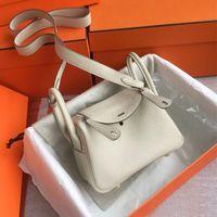 Borsa a messenger femminile mini borse Lindy Small Doctor Handbag 2021 Bovina Bowhide Tote One Spalla Borsa di design moda