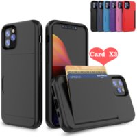 Comincan phone Case For new iPhone 12 6 7 8 Plus 2in1 robot Armor Card Slot Cover cases for lg stylo 7 S21 NOTE 20