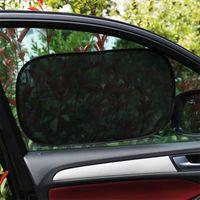 Pair Car Sunshade Side Window Clings Baby Sun Shades Glare Protector Universal Auto Back Seat