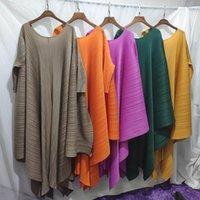 Vestidos casuais miyake plissado plus size vestido solto mulheres africanas indie estética roupas desenhar de volta encolher a corda vintage