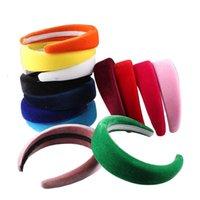 Hair Accessories High Quality Thick Velvet 4CM Hairbands Head Band Plastic Headbands Fashion Headwear For Ladies Headdress