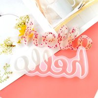 Craft Tools Silicone Mold Hello Love Live Blessed Epoxy Resin Molds DIY Ornament for Home Office Wedding Decor