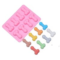 Super Pecker Ice Mold 8-Cavity Sexy Funny Ice Mold Tray for Bachelorette Party Candy Chocolate Jelly Cookie Fondant Mold FWE6347