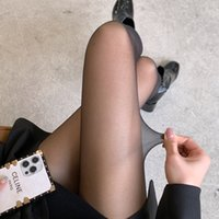 Strümpfe Bulk Damen ultradünne unsichtbare transparente T-Schritt Sommerstrumpfhose sexy schwarze Socken